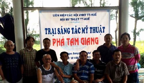 """Khai mạc Trại sáng tác Mỹ thuật """"Phá Tam Giang"""" năm 2014"""