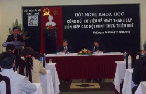 Ngày ra đời tổ chức tiền thân của Liên Hiệp các Hội Văn học Nghệ thuật Thừa Thiên Huế