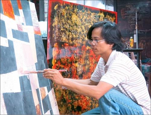Cuộc sống trong sắc màu của Nguyễn Đăng Sơn