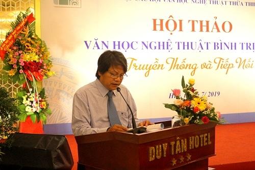 Hội thảo VHNT Bình Trị Thiên - Truyền thống và Tiếp nối