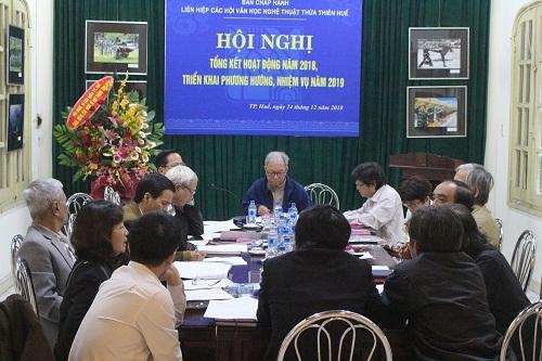Hội nghị tổng kết hoạt động năm 2018 và triển khai phương hướng, nhiệm vụ năm 2019 của Ban Chấp hành Liên hiệp các Hội VHNT TT.Huế