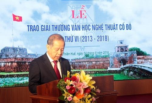Trao tặng giải thưởng VHNT Cố đô lần VI (2013 - 2018)