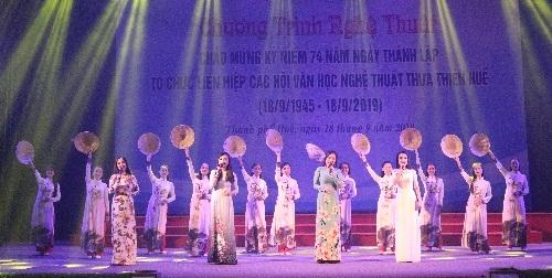Chương trình nghệ thuật kỷ niệm 74 năm ngày thành lập tổ chức Liên hiệp các Hội VHNT TT.Huế