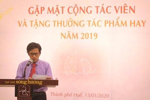 Tạp chí Sông Hương gặp mặt cộng tác viên và trao tặng thưởng tác phẩm hay năm 2019
