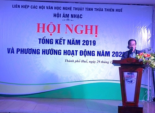 Hội Âm nhạc Thừa Thiên Huế tổng kết năm 2019 và triển khai phương hướng hoạt động năm 2020