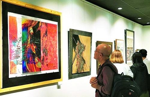 Trưng bày trên 70 tác phẩm vẽ trên máy tính